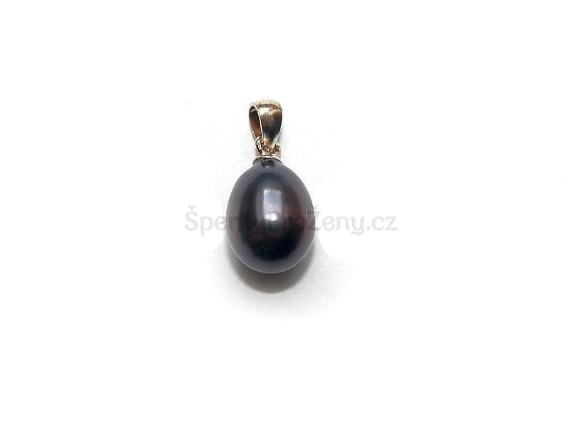 Přívěsek Perla černá - Šperky pro ženy 8b801a4a662