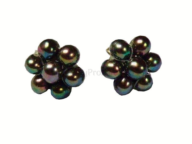 Náušnice Perly černé ostružiny - říční - Šperky pro ženy d0df25d4e6e