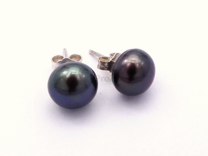 Náušnice černé perly - Šperky pro ženy 55a183b12a3